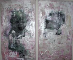 Akryl på lerret 2x(70cm x 30cm)
